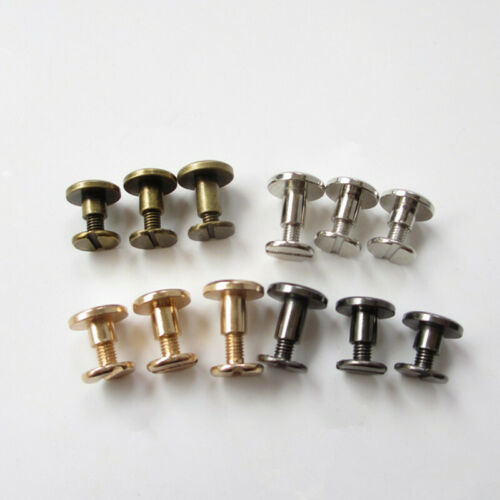 20Pcs Metal Screw Rivets DIY  Leather Belt Craft Solid Nail Rivet Buckles Spikes
