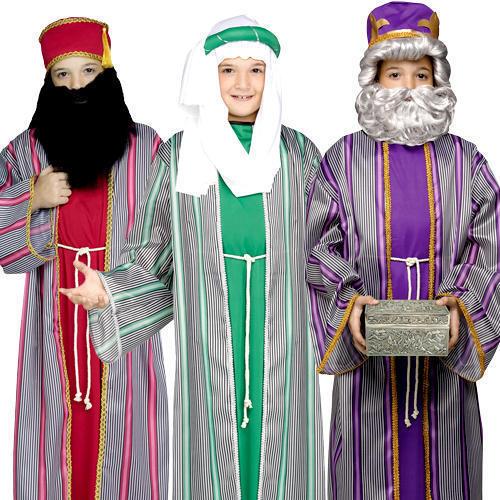 3 Wise Men Kids Fancy Dress Christmas Nativity Play Xmas Boys Childrens Costumes  sc 1 st  eBay & Childrens Nativity Play Shepherd Costume - Christmas Fancy Dress ...