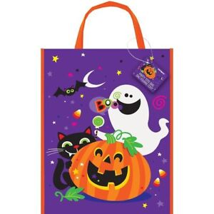 Image is loading Large-Happy-Halloween-Party-Bag-38cm-x-30cm 295749ca07f0