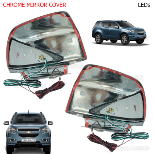 Fitt Chrome Mirror Cover Signal Light Led Fits Chevrolet Trailblazer 2012 2016