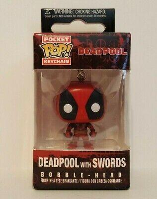 Marvel Funko Pocket Pop Keychain Deadpool Bobble-Head Keychain Item #4984