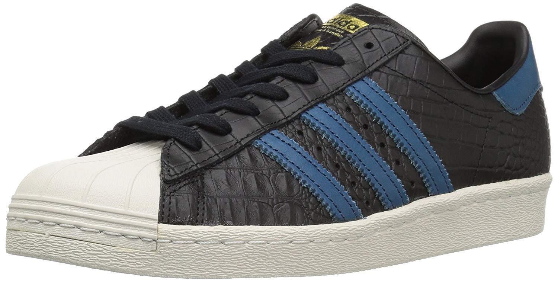 huge discount e3da1 f0282 Adidas Men s Superstar 80s Cblackblueegoldmt Medium US Originals 11  ofrgfm5997-Athletic Shoes