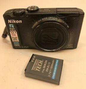 Nikon COOLPIX S8100 12.1MP Digital Camera - Black