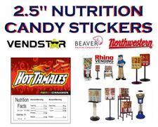 25 X 25 Bulk Vending Label Candy Machine Sticker Gumball Hot Tamales
