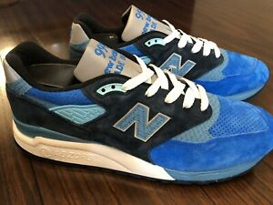 cheaper a0986 a8ef1 Details about New Balance 998 MADE IN USA Blue Navy White Silver Fish  M998NE Men's Size 11