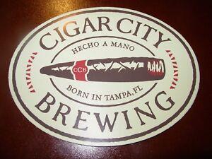 Papieren reclame CIGAR CITY BREWING Promo Sticker BLACK LOGO craft beer Tampa brewery Hunahpu Reclamevoorwerpen
