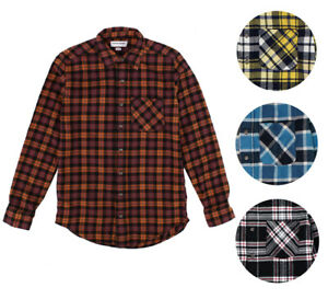American-Apparel-NEW-Mens-Plaid-Flannel-Lumberjack-Classic-Fit-Button-Down-Shirt