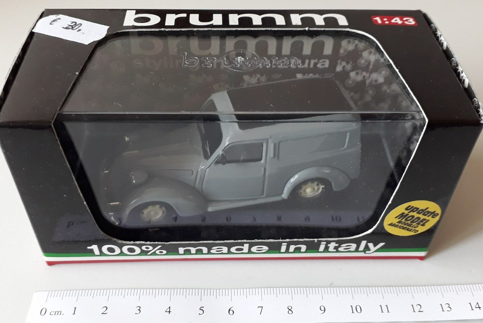 BRUMM FIAT 1100 FURGONE 1947 grey R177-02 1 43 1 43 MODEL CAR AUTO DIE CAST