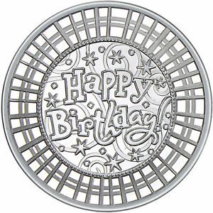 2017 Happy Birthday Stripes 1oz 999 Fine Silver Round By