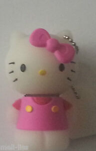 New 8 GB Rubber Pink Hello Kitty Toy Memory Stick USB  Flash Drive - Brand New