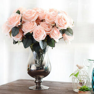 Elegant noble artificial silk 10 heads french rose floral bouquet image is loading elegant noble artificial silk 10 heads french rose mightylinksfo