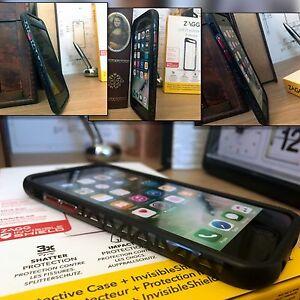 Apple-iPhone-6-6S-Genuine-ZAGG-Orbit-Extreme-Bumper-Invisible-Shield-Case-Black