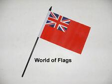 "RED ENSIGN SMALL HAND WAVING FLAG 6"" x 4"" British Merchant Navy Desk Display"