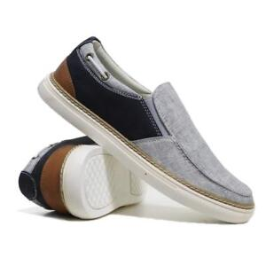 Mens-Slip-On-Casual-Canvas-Shoes-Boat-Deck-Plimsolls-Pumps-Skates-Trainers-Size