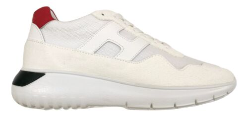 Hogan scarpe uomo sneaker interactive3 mod HXM3710AJ18N890029 bianco-rosso