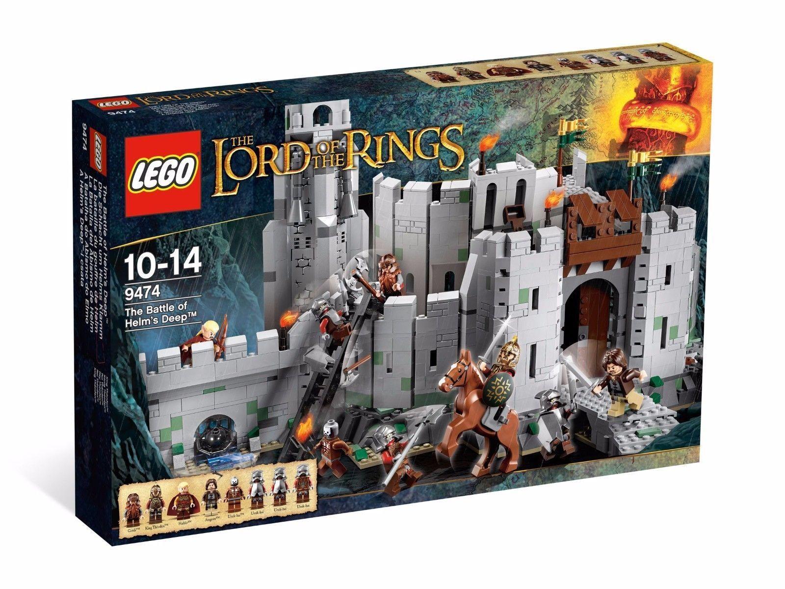 Lego 9474 Helms Deep Señor De Los Anillos Anillos Anillos Hobbit Nuevo  genuina alta calidad