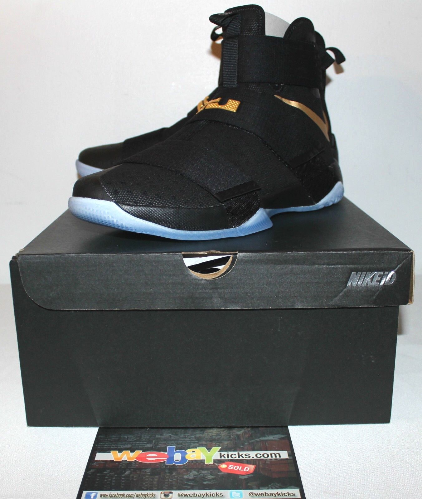 Nike Air Lebron 10 X Soldier Championship Negro Oro X 10 Zapatillas Para Hombres Nuevos 2cfa9d