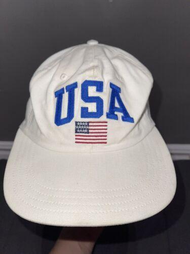 Vintage Polo Ralph Lauren Polo Sport USA Flag Whit