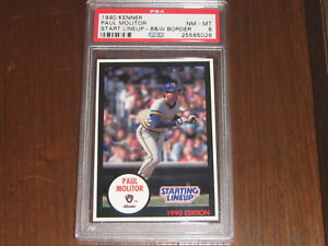 1990 Kenner Starting Lineup Black & White Border Paul Molitor PSA 8 *POP 4* SLU