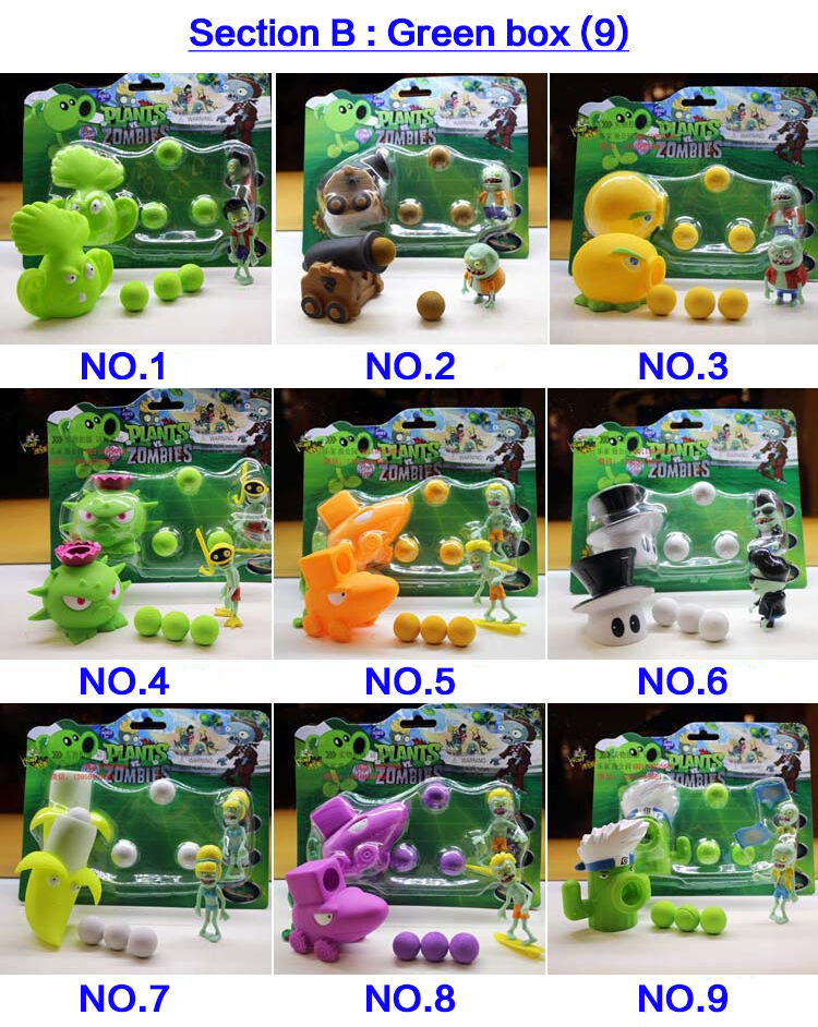 5 Plants vs Zombies Action Figures Kids Kids Kids PVC Shooting Figurines Set Play Game Toy 46425c