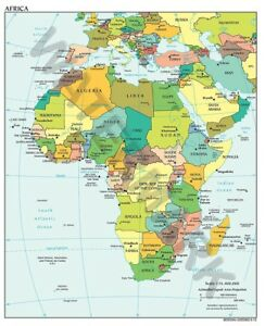 POLITICAL MAP 2012 AFRICA GIANT WALL POSTER ART PRINT LLF0755