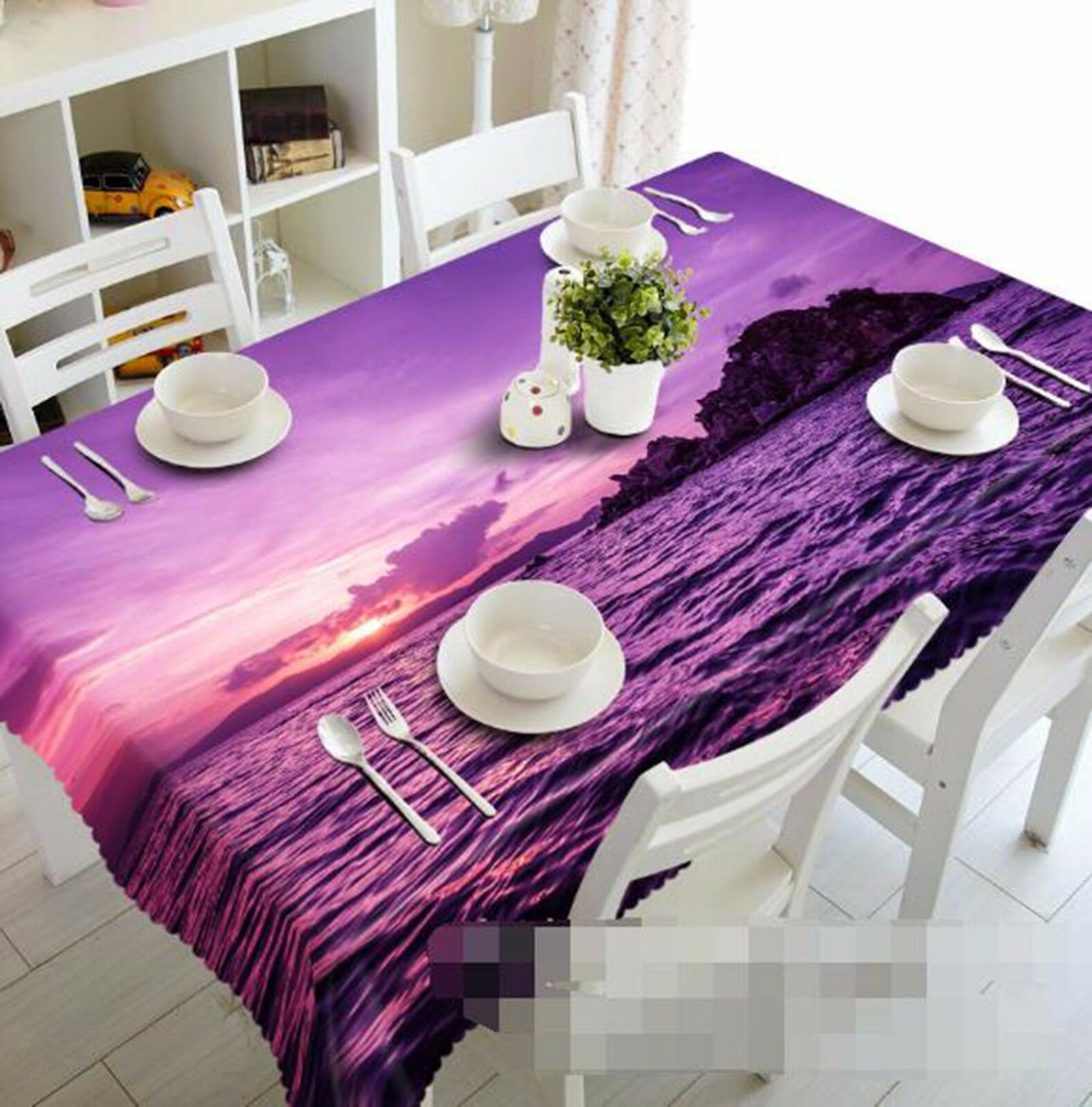 3D River 446 Tablecloth Table Cover Cloth Birthday Party AJ WALLPAPER UK Lemon