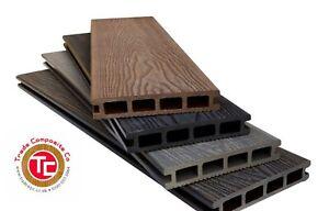 Details about Woodgrain Composite Decking Boards 3 66m Lengths - Grey Black  Brown Ash White
