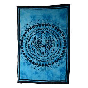 Wandbehang-034-Hand-der-Fatima-034-Dekotuch-Hamsa-Mandala-Tagesdecke-guenstig-bei-Kunst