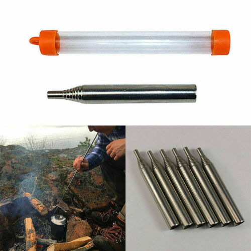 Portable Bellow Telescopic Blowpipe Blow Fire Tube Survival Tool Camping N5B8