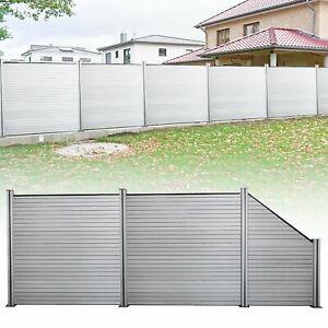 WPC-Zaun-Windschutz-Sichtschutz-Gartenzaun-Sichtschutzzaun-Terrasse-Dichtzaun
