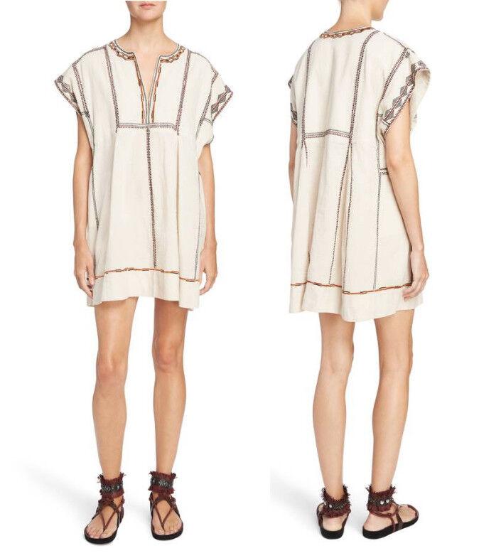 NWT etoile Isabel marant belissa embroidered dress size 34