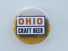 BEER BUTTON Pinback ~*~ OHIO CRAFT BEER ~*~ See STORE for 100s More Breweriana