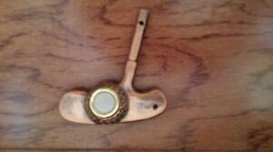 Lighted-Decorative-Doorbell-Bronze-Plated-Golf-Club-Putter