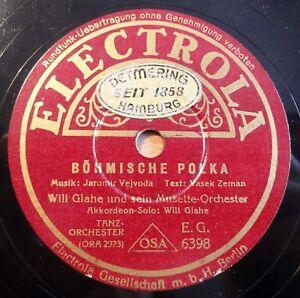 Will-Glahe-Boehmische-Polka-Im-Gaensemarsch-Electrola-10-034-78-RPM-8416