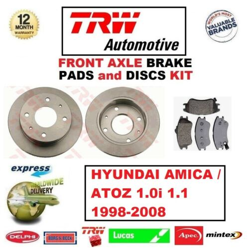 FOR HYUNDAI AMICA ATOZ 1.0 1.1 1998-/> FRONT AXLE BRAKE PADS DISCS SET 230mm