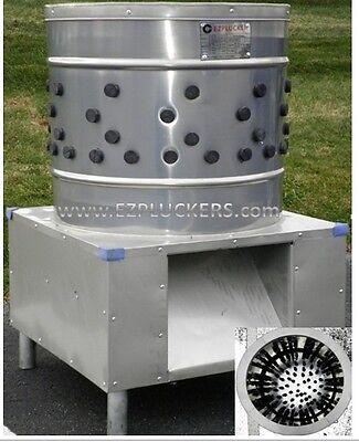 New EZ-131 EZPLUCKER Stainless Steel Chicken Plucker De-Feather Machine