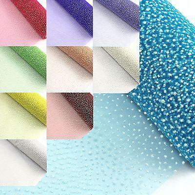 Appena Macchia Bianca Organza Mesh - 52 Cm X 5 Yd (ca. 4.57 M) Nozze Craft Tessuto Fiore Wrap-mostra Il Titolo Originale