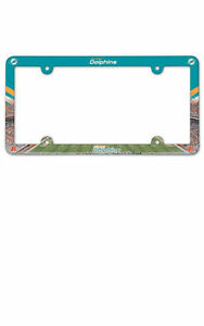 image is loading wincraft nfl miami dolphins license plate frame full - Miami Dolphins License Plate Frame