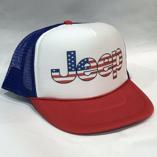 JEEP Trucker Hat mesh Hat Snap Back Hat red