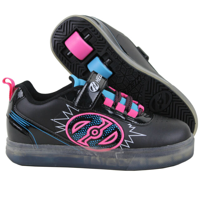 998f2330d2eb Heelys Unisex Children s Bolt Plus X2 Lighted 3 M Black neon Blue ...