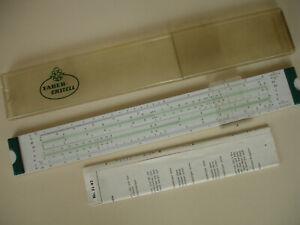 faber castell 52/82 schul d-stab duplex slide rule boxed manual germany   ebay