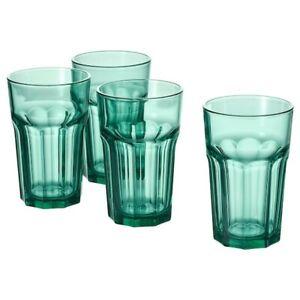 Ikea Pokal Vidrio Verde 35cl media pinta Jugo Agua potable Vaso cristalería