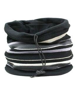Mens Rockjock Headgear Reversible Snood Neck Warmer Scarf Hood Stripe or Plain