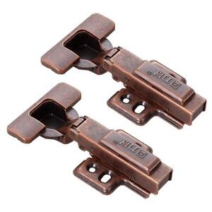 Details About 90° Hydraulic Cabinet Hinges Soft Close Furniture Hardware  Antique Copper 2 Pack