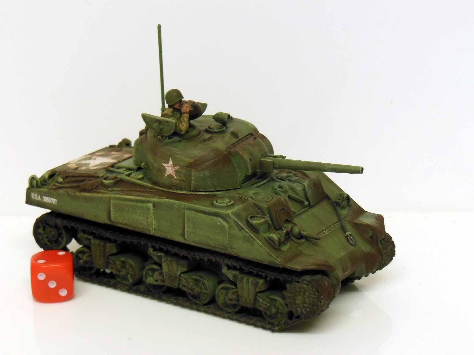 28mm bolt aktion befehlskette uns m4 sherman panzer - gestrichen und verwitterten (r3)