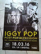 ✿ Iggy Pop 2016 ✿ Original Concert-Tour-Poster- DIN A1, 84 x 60 cm