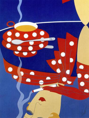 Reflections 22x30 Art Deco Print by Erte