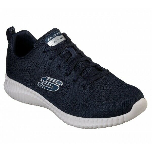 buy online 464eb 9594a Skechers ELITE FLEX CLEAR LEAF Mens Lace Up Sport Athletic Fitness Trainers  Navy