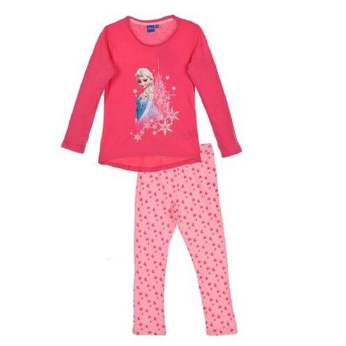 Disney New Frozen Girls Long Sleeve Pyjamas Set 3-10years 100/% Cotton Anna Elsa