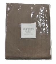 "Restoration Hardware Stonewashed Cotton Linen Drapery 100"" W x 84"" L Walnut NEW"